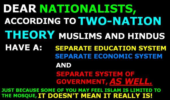 This is also Two-Nation Theory